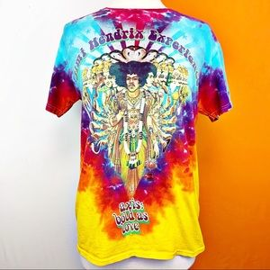 Jimi Hendrix Experience Bright Tie DyeOfficial Tee